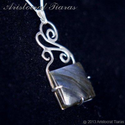 Lady Josephine 925 silver Labradorite Necklace picture 3