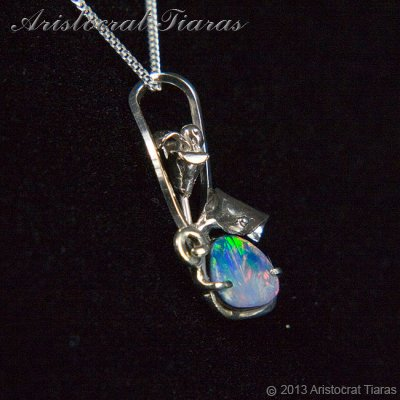 Lady Kalani 925 silver Opal doublet necklace picture 3