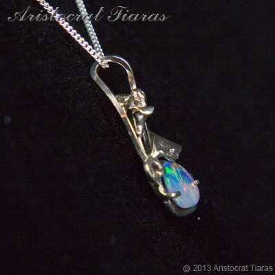 Lady Kalani 925 silver Opal doublet necklace picture 4