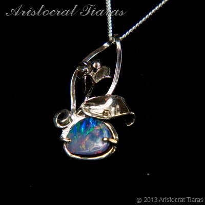 Lady Kalani 925 silver Opal doublet necklace picture 5