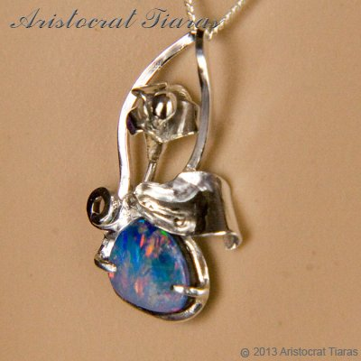 Lady Kalani 925 silver Opal doublet necklace picture 9
