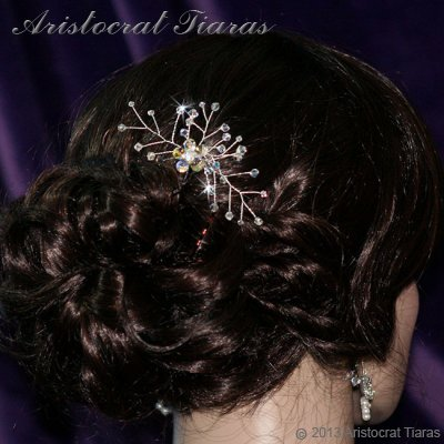 Lady Lyra Swarovski flower hair pin picture 2