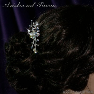 Lady Lyra Swarovski flower hair pin picture 3