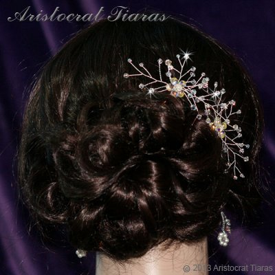 Lady Lyra Swarovski flower hair pin picture 4