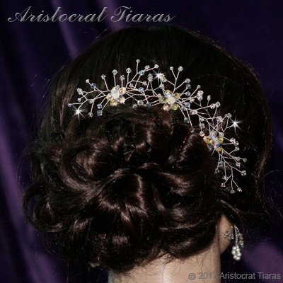 Lady Lyra Swarovski flower hair pin picture 6