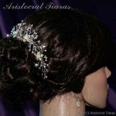 Lady Lyra Swarovski flower hair pin picture 7