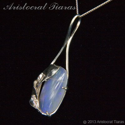 Lady Pamela 925 silver Opal necklace picture 6