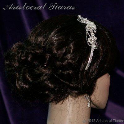 Lady Rosaleen handmade Swarovski pearl flower bridal headband picture 8