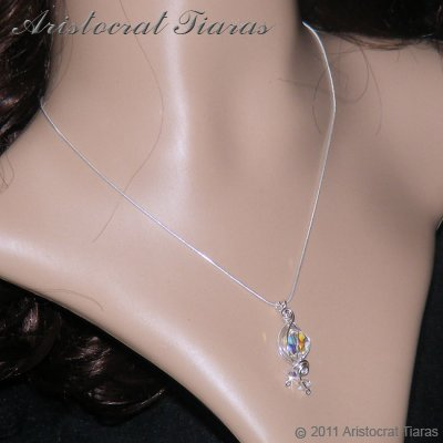 Lady Rosalina handmade Swarovski 925 necklace picture 7