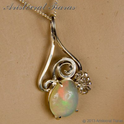 Lady Sally 925 silver Opal necklace picture 10