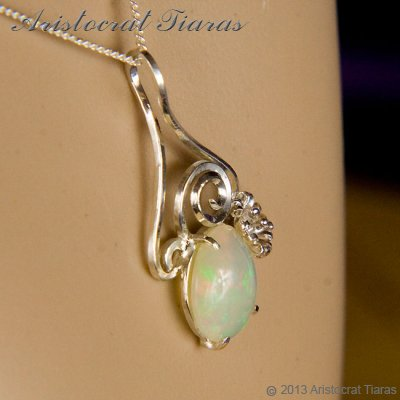 Lady Sally 925 silver Opal necklace picture 11