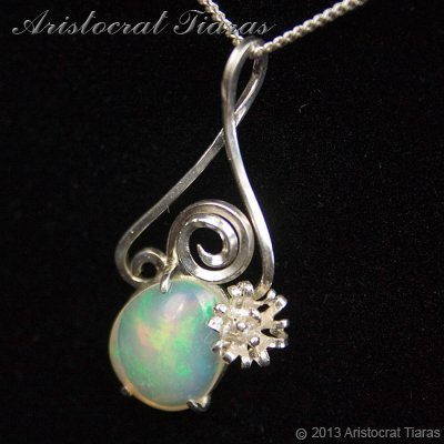 Lady Sally 925 silver Opal necklace picture 2