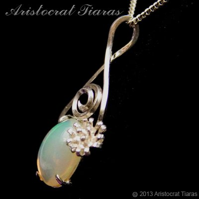 Lady Sally 925 silver Opal necklace picture 3