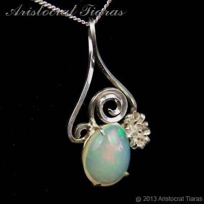 Lady Sally 925 silver Opal necklace picture 4