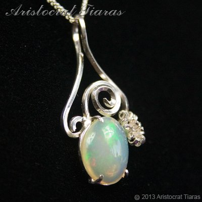 Lady Sally 925 silver Opal necklace picture 5