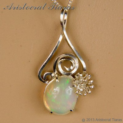 Lady Sally 925 silver Opal necklace picture 7
