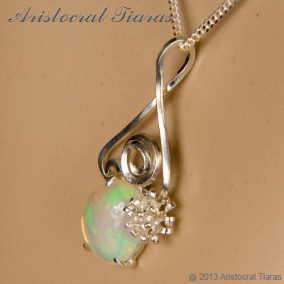 Lady Sally 925 silver Opal necklace picture 8