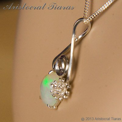Lady Sally 925 silver Opal necklace picture 9