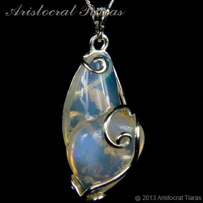 Lady Savannah 925 silver opal necklace picture 1