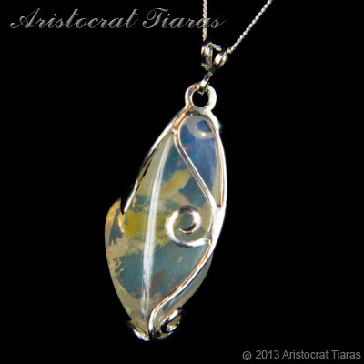 Lady Savannah 925 silver opal necklace picture 11