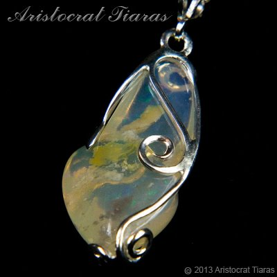 Lady Savannah 925 silver opal necklace picture 12