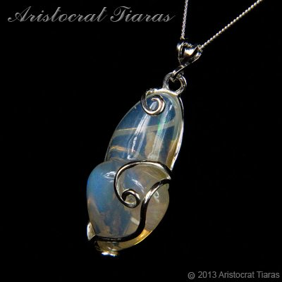 Lady Savannah 925 silver opal necklace picture 2