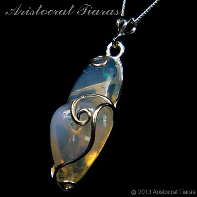 Lady Savannah 925 silver opal necklace picture 3