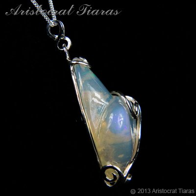 Lady Savannah 925 silver opal necklace picture 5
