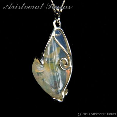 Lady Savannah 925 silver opal necklace picture 7
