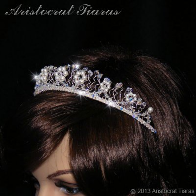 Princess Aurora flowers handmade wedding tiara picture 12