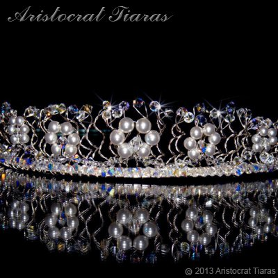 Princess Aurora flowers handmade wedding tiara picture 2