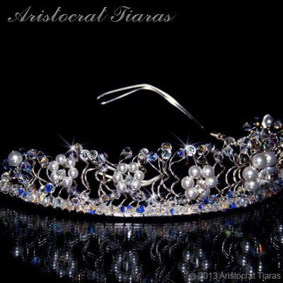 Princess Aurora flowers handmade wedding tiara picture 4