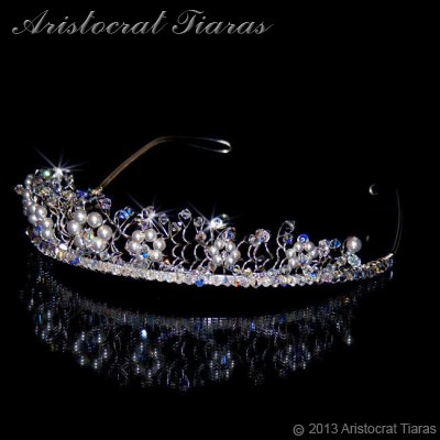 Princess Aurora flowers handmade wedding tiara picture 5