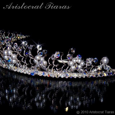 Princess Aurora flowers handmade wedding tiara picture 6