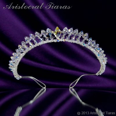 Princess Carmina handmade Swarovski bridal tiara - click for supersize image