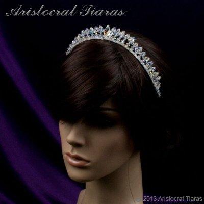 Princess Carmina handmade Swarovski bridal tiara picture 11
