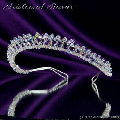 Princess Carmina handmade Swarovski bridal tiara picture 2