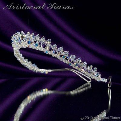 Princess Carmina handmade Swarovski bridal tiara picture 3