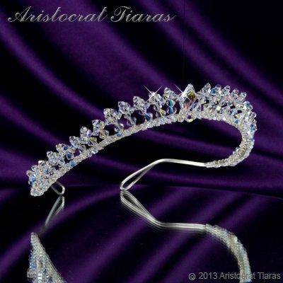 Princess Carmina handmade Swarovski bridal tiara picture 4