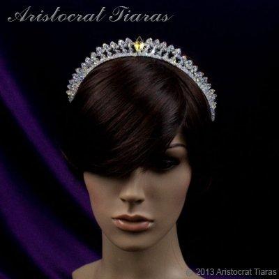 Princess Carmina handmade Swarovski bridal tiara picture 6