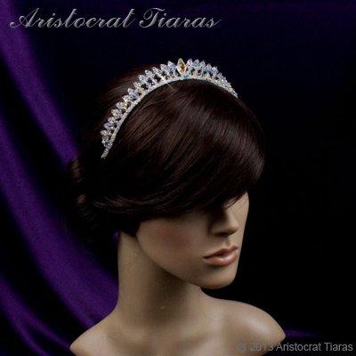 Princess Carmina handmade Swarovski bridal tiara picture 7