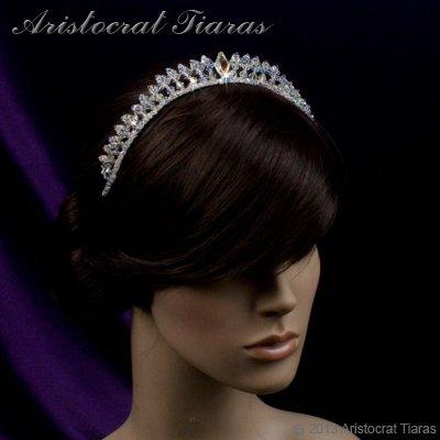 Princess Carmina handmade Swarovski bridal tiara picture 8