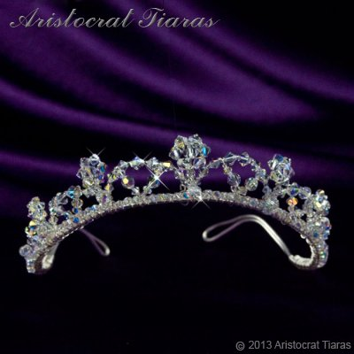 Princess Eleanor handmade Swarovski bridal tiara - click for supersize image