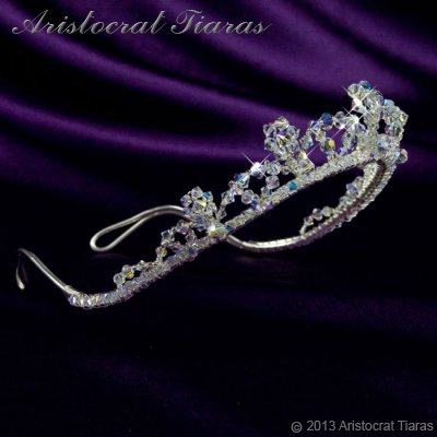 Princess Eleanor handmade Swarovski bridal tiara picture 3