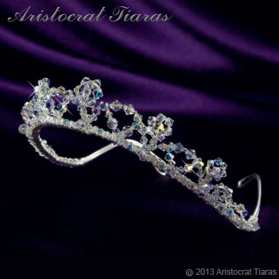 Princess Eleanor handmade Swarovski bridal tiara picture 4