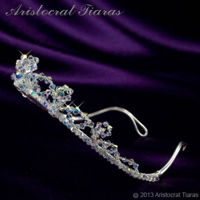 Princess Eleanor handmade Swarovski bridal tiara picture 5