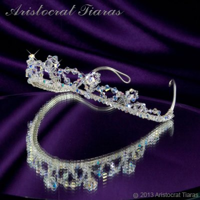 Princess Eleanor handmade Swarovski bridal tiara picture 6