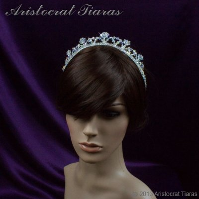 Princess Eleanor handmade Swarovski bridal tiara picture 7