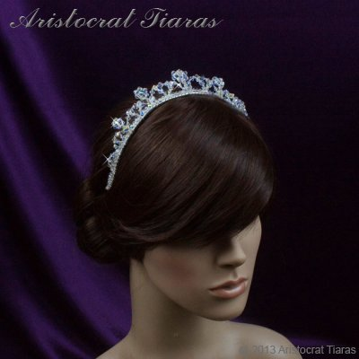 Princess Eleanor handmade Swarovski bridal tiara picture 9