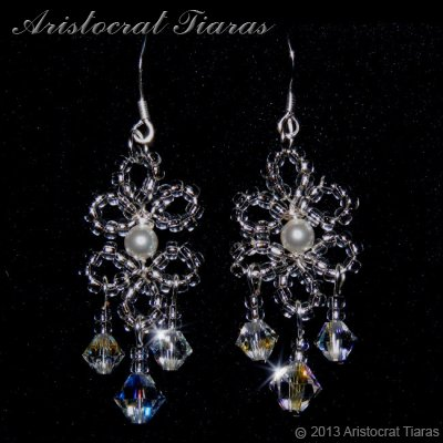 Princess Esme handmade Swarovski earrings - click for supersize image